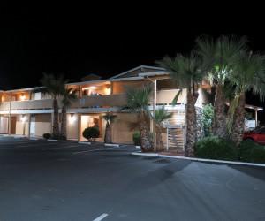 Bonanza Inn Yuba City at Night - Free Parking is available at Bonanza Inn YC