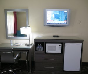 All rooms feature microfridge and flatscreen TVs