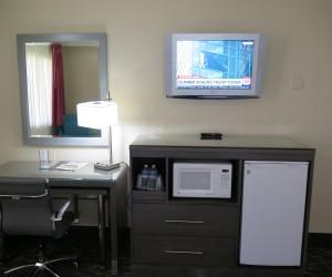 Microfridge & Flatscreen TV