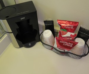 Single Serve Coffee Makers in every room
