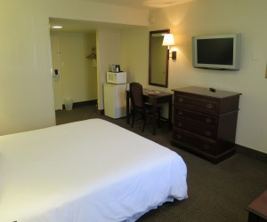 All rooms feature flatscreen TVs